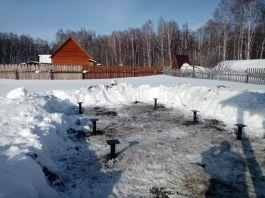 Зимний монтаж винтовых свай в Новосибирске